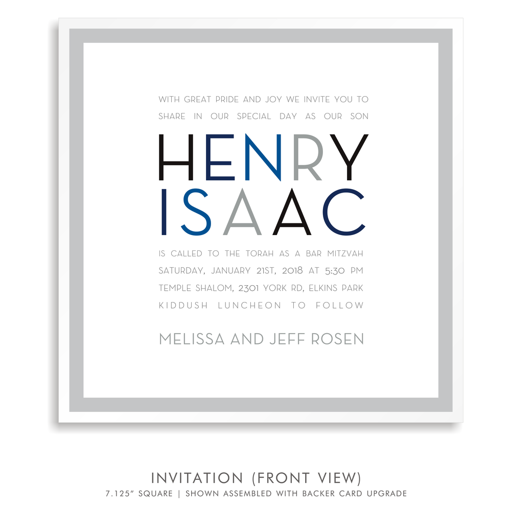 Bar Mitzvah Invitation 5260 - Henry Isaac