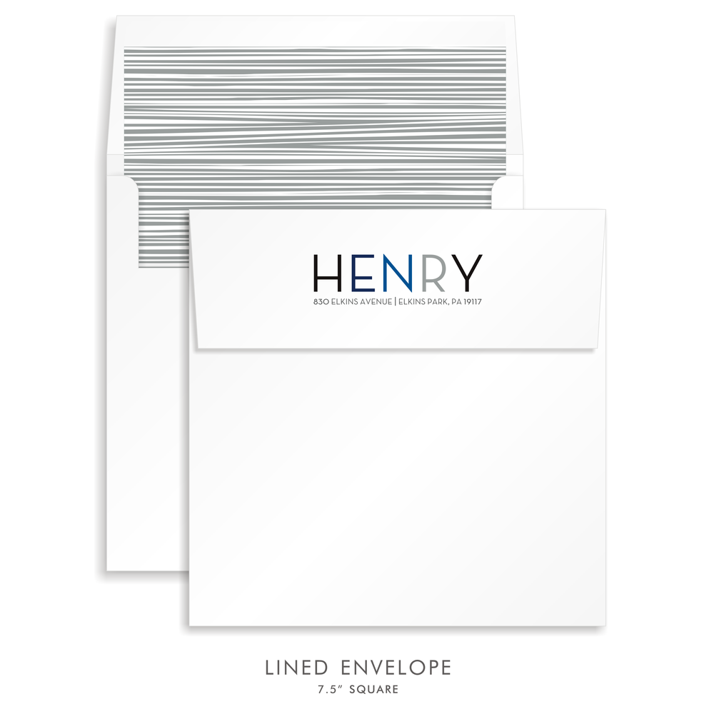 Bar Mitzvah Custom Envelope 5260 - Henry Isaac