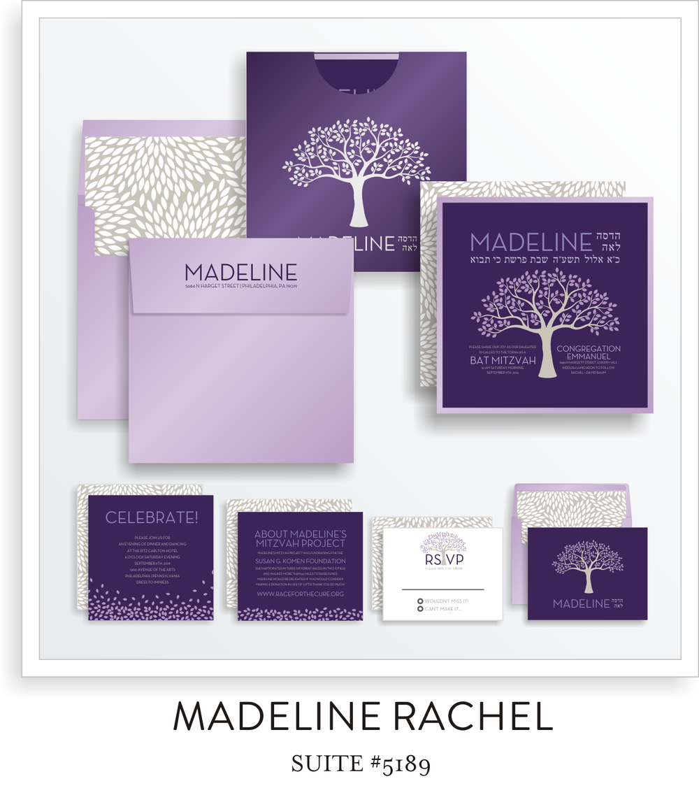 Bat Mitzvah Invitation Suite 5189 - Madeline Rachel