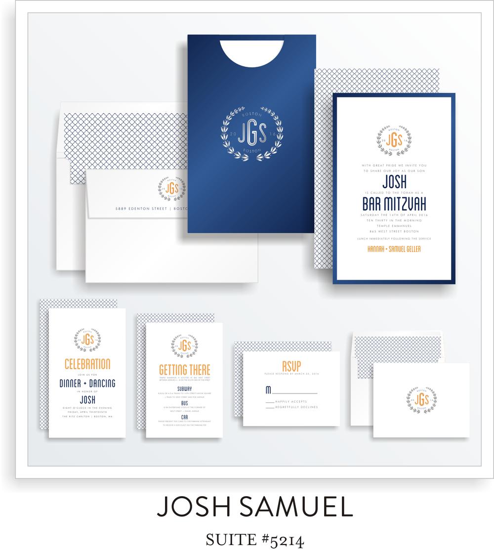 Bar Mitzvah Invitation Suite 5214 - Josh Samuel