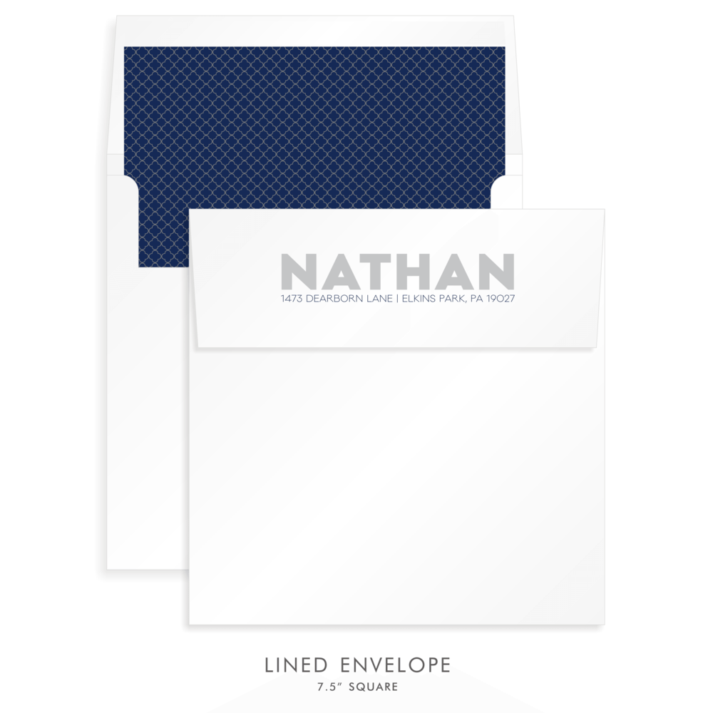 BAR MITZVAH CUSTOM ENVELOPE 5263 - NATHAN LIOR