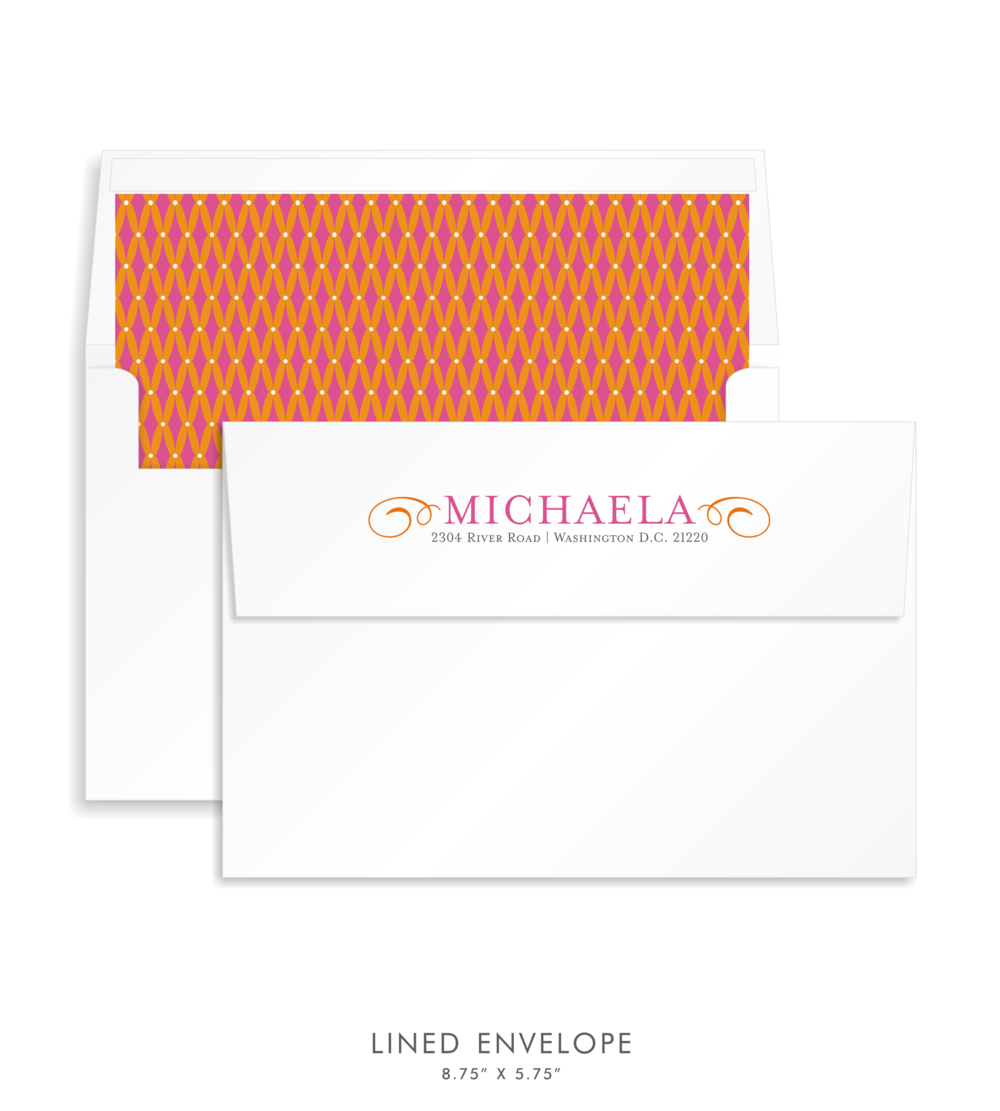 Bat Mitzvah Custom Envelope 5192 - Michaela Beth