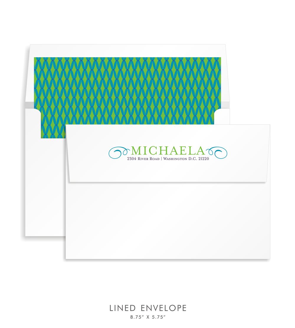 Bat Mitzvah Custom Envelope 5191 - Michaela Beth