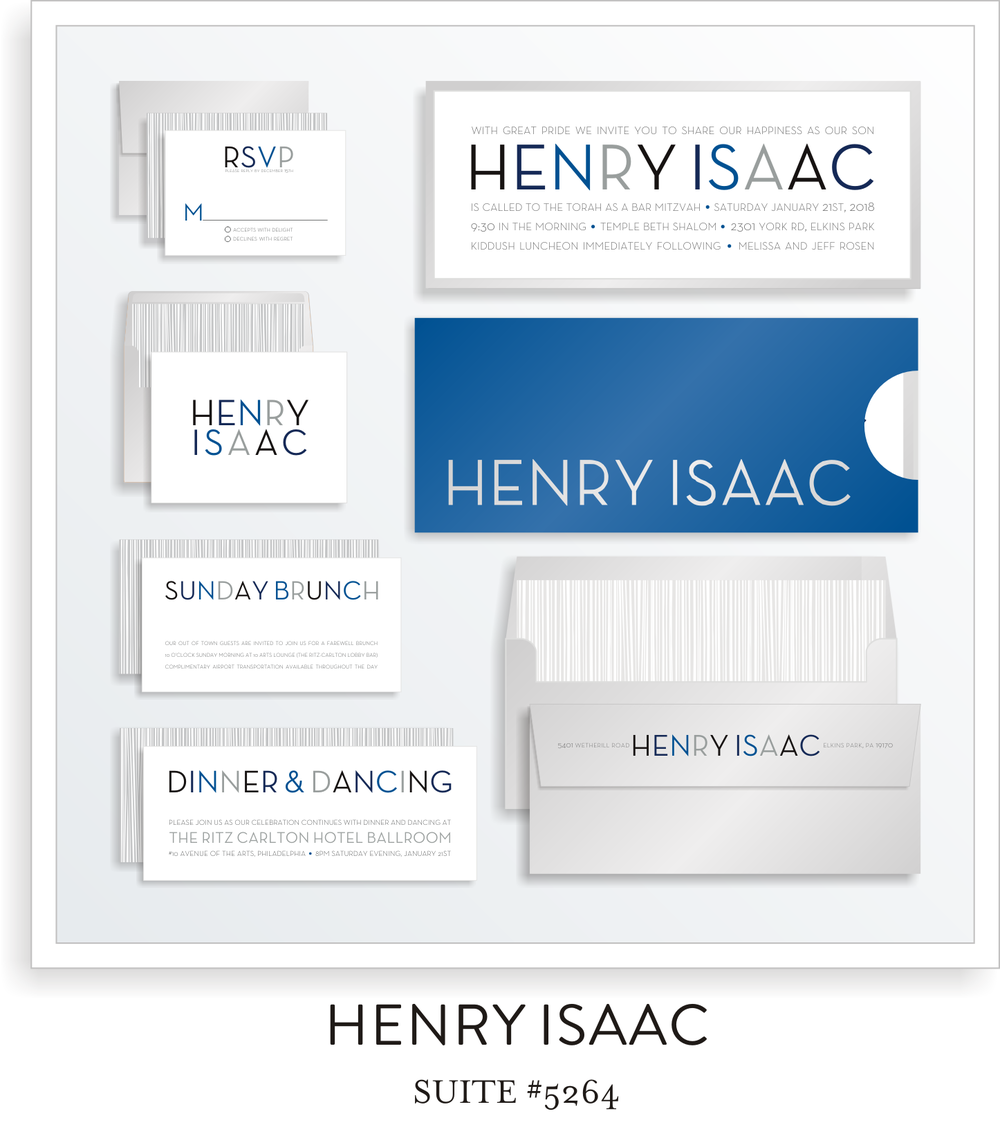 Henry Isaac Bar Mitzvah Invitation