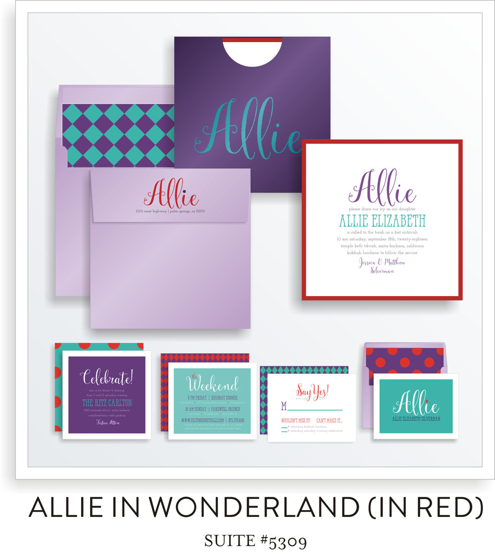 BAT MITZVAH SUITE 5309-ALLIE IN WONDERLAND (RED)