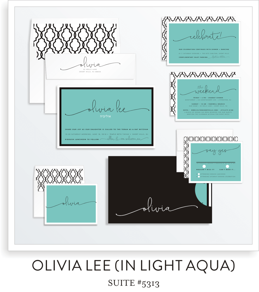 BAT MITZVAH SUITE 5313-OLIVIA LEE (IN LIGHT AQUA)