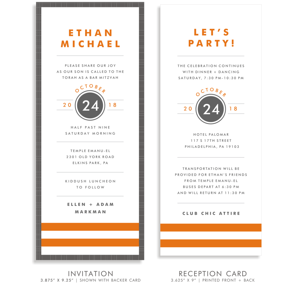 BAR MITZVAH SUITE 5274-ETHAN MICHAEL INVITATION