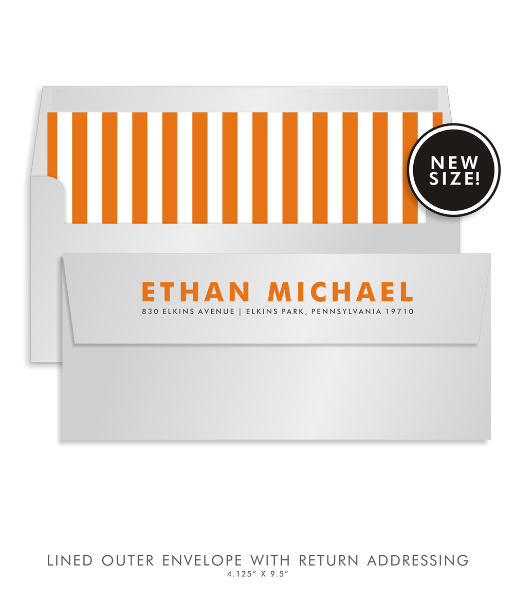 BAR MITZVAH CUSTOM ENVELOPE 5274-ETHAN MICHAEL