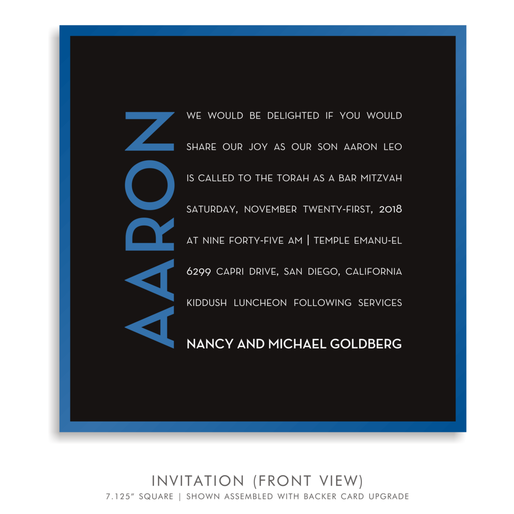 BAR MITZVAH INVITATION 5278-CLUB A