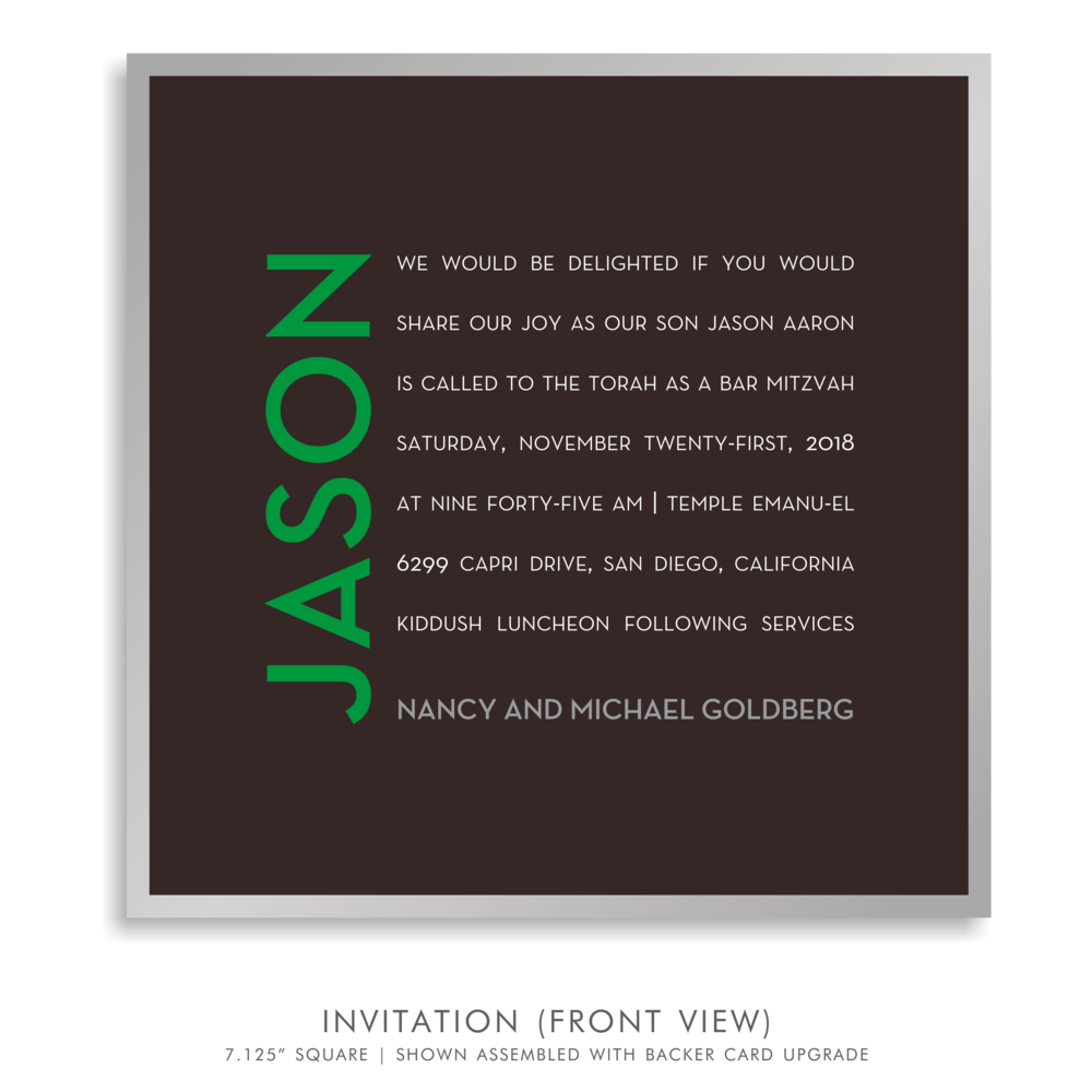 BAR MITZVAH INVITATION 5279-CAMP J