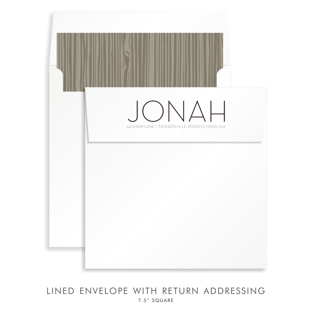BAR MITZVAH CUSTOM ENVELOPE 5281-JONAH AARON