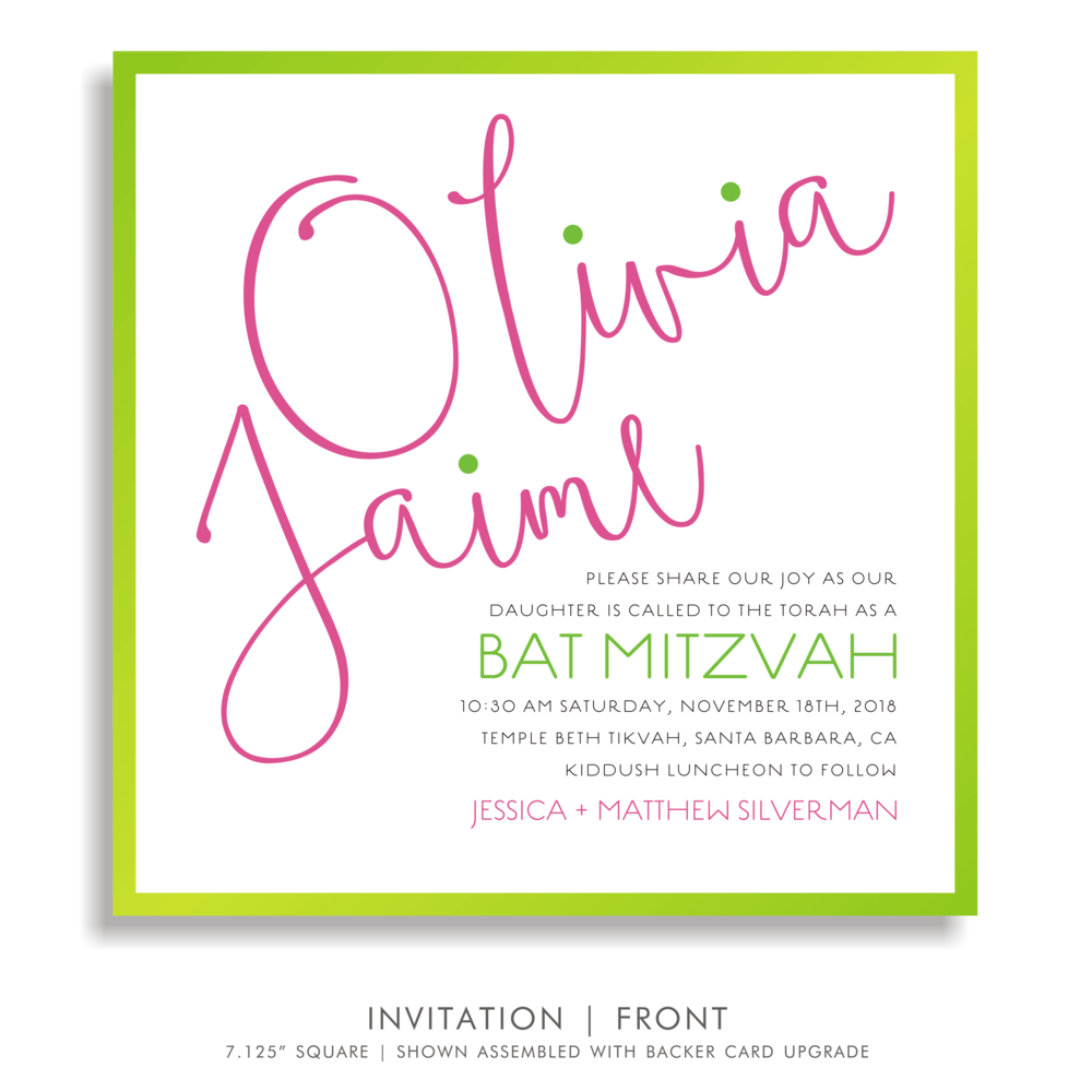 BAT MITZVAH INVITATION 5310-OLIVIA JAIME