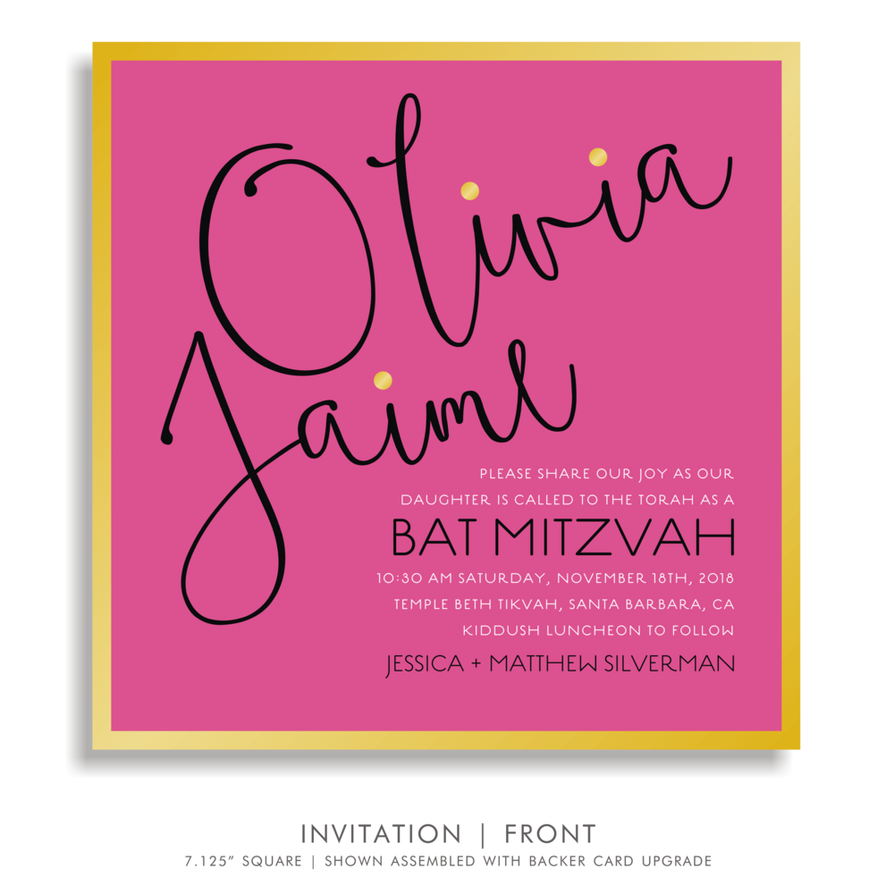 BAT MITZVAH INVITATION 5311-OLIVIA J. SOIREE