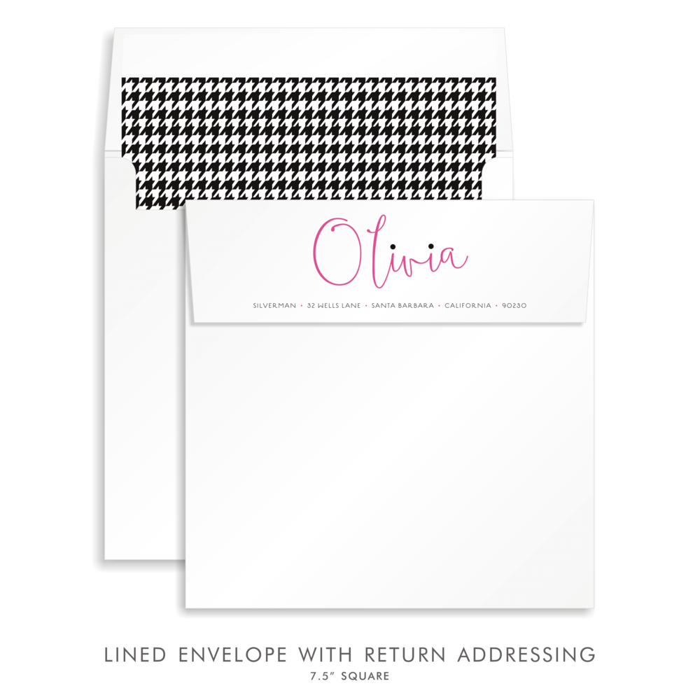 BAT MITZVAH SUITE CUSTOM ENVELOPE 5311-OLIVIA J. SOIREE