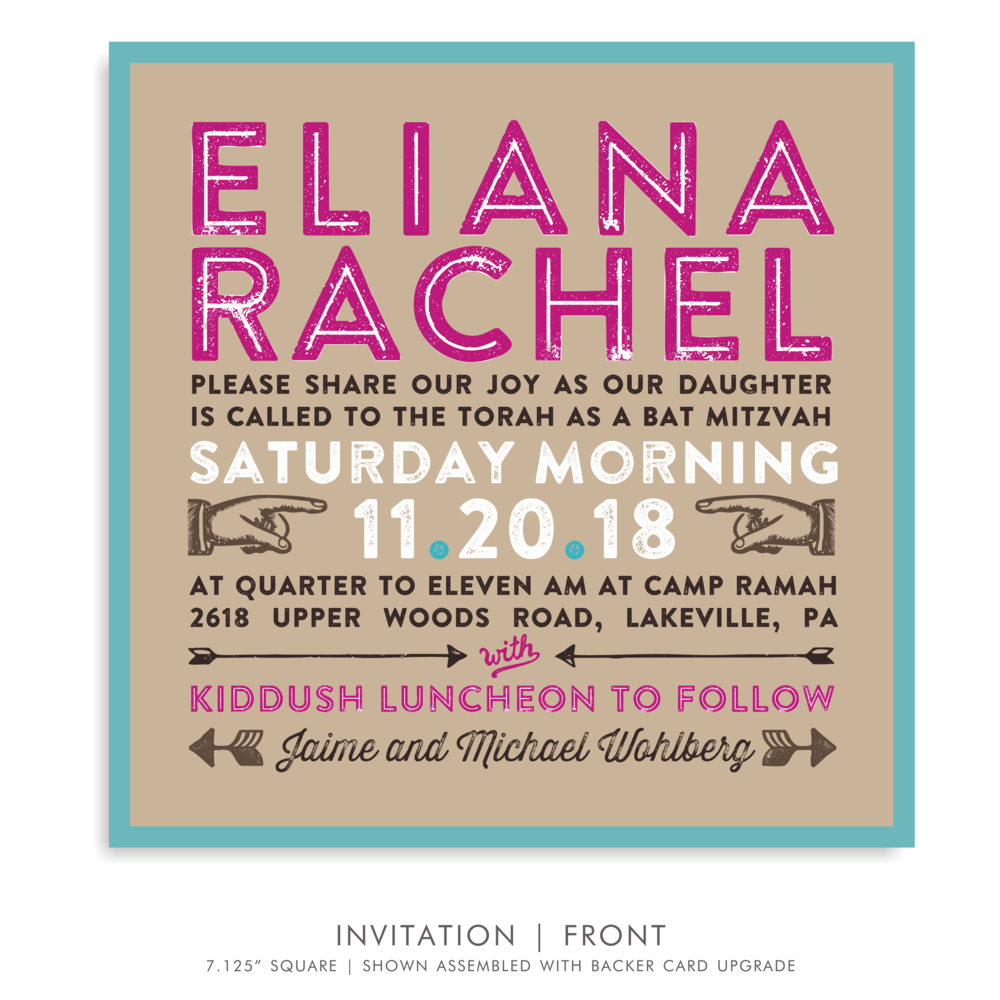 BAT MITZVAH INVITATION 5320-CAMP E