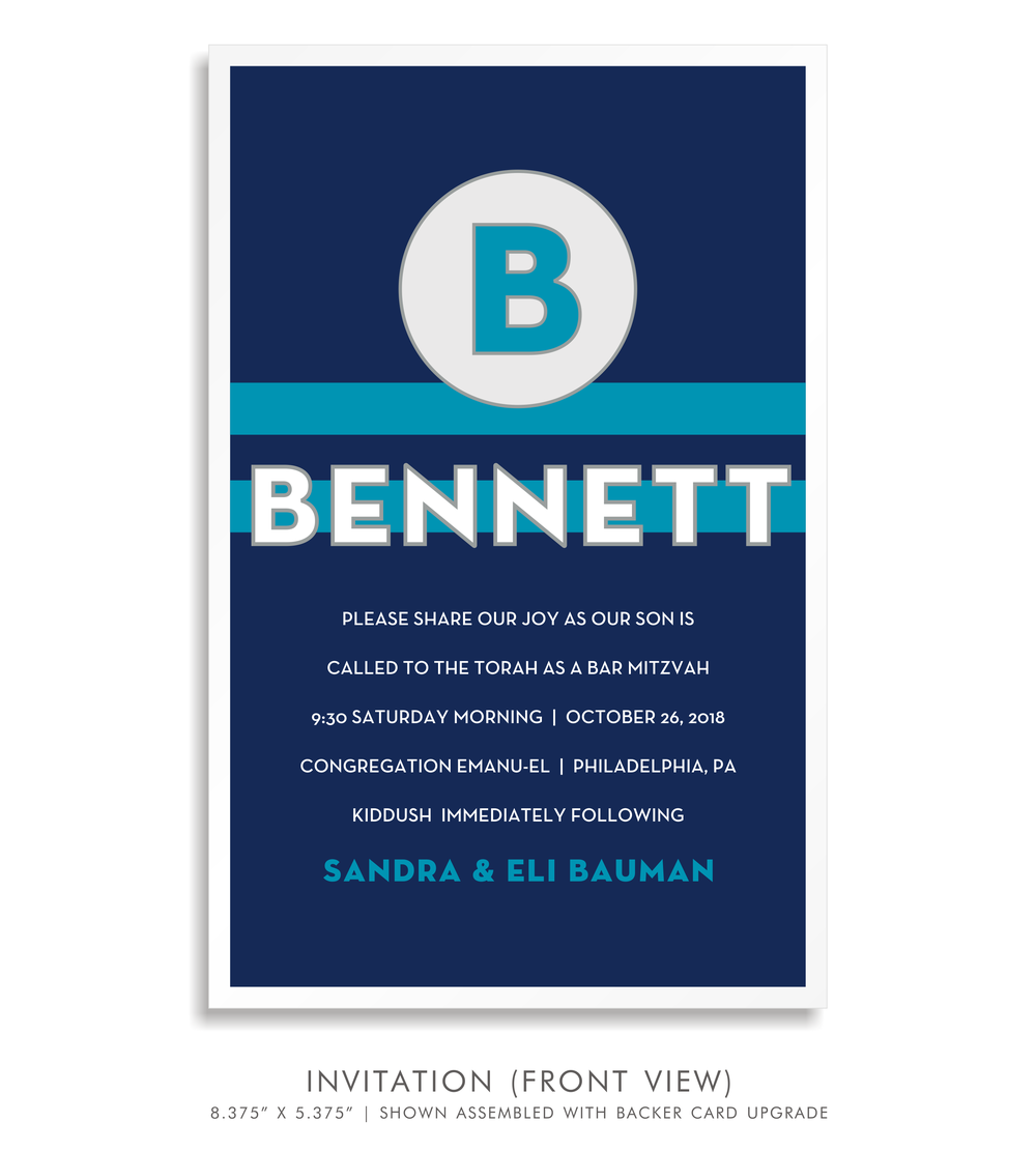 BAR MITZVAH INVITATION 5286-BENNETT B.