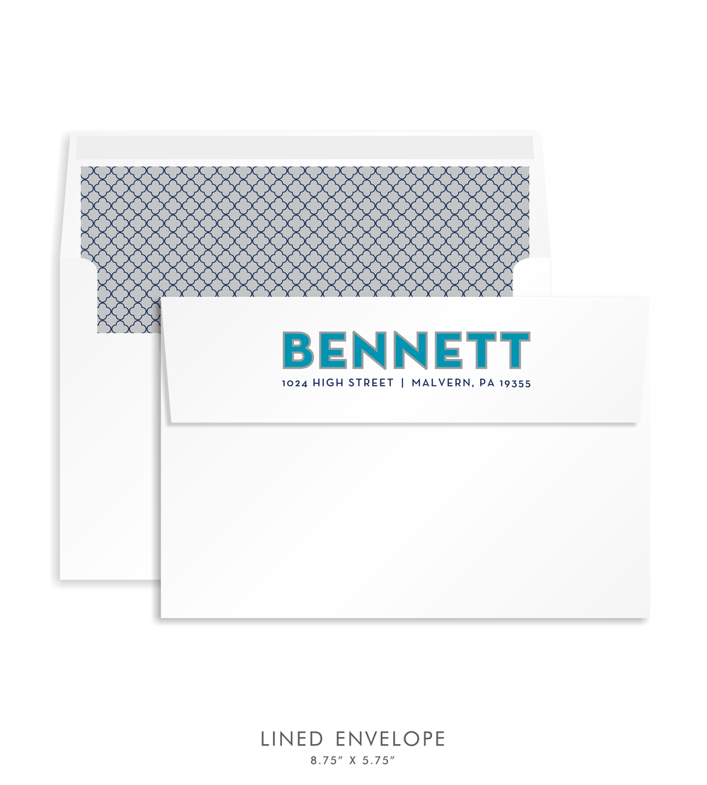 BAR MITZVAH CUSTOM ENVELOPE 5286-BENNETT B.