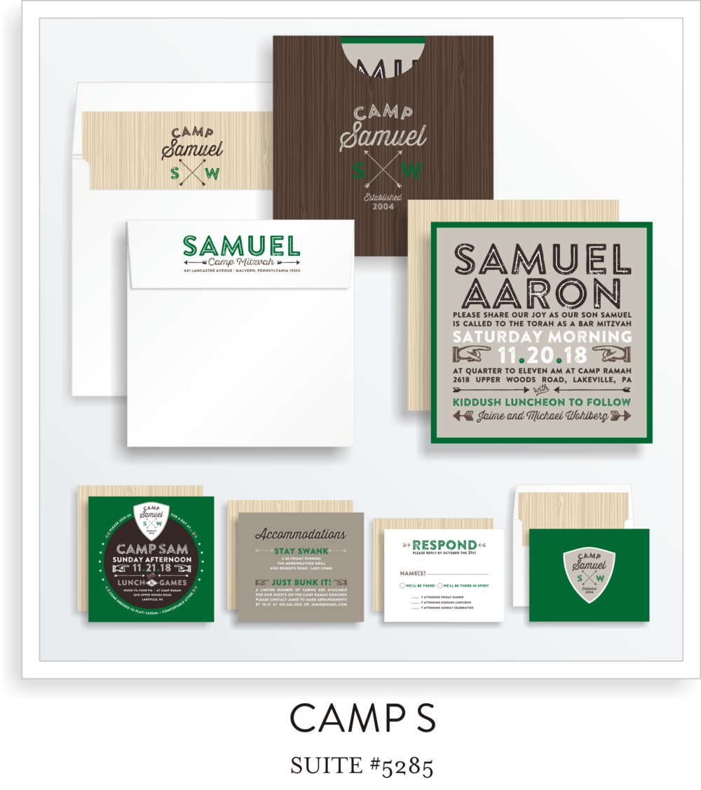 Copy of Copy of BAR MITZVAH SUITE 5285-CAMP S IN GREEN
