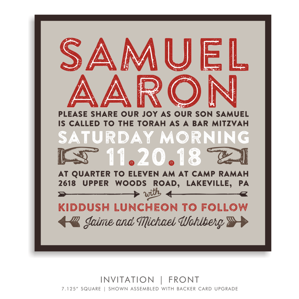 BAR MITZVAH INVITATION 5284-CAMP S