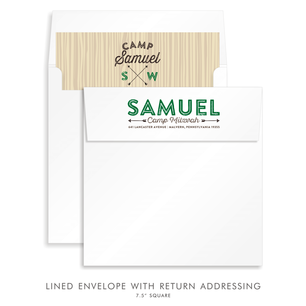 BAR MITZVAH CUSTOM ENVELOPE 5285-CAMP S