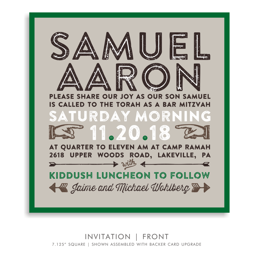 BAR MITZVAH SUITE INVITATION 5285-CAMP S