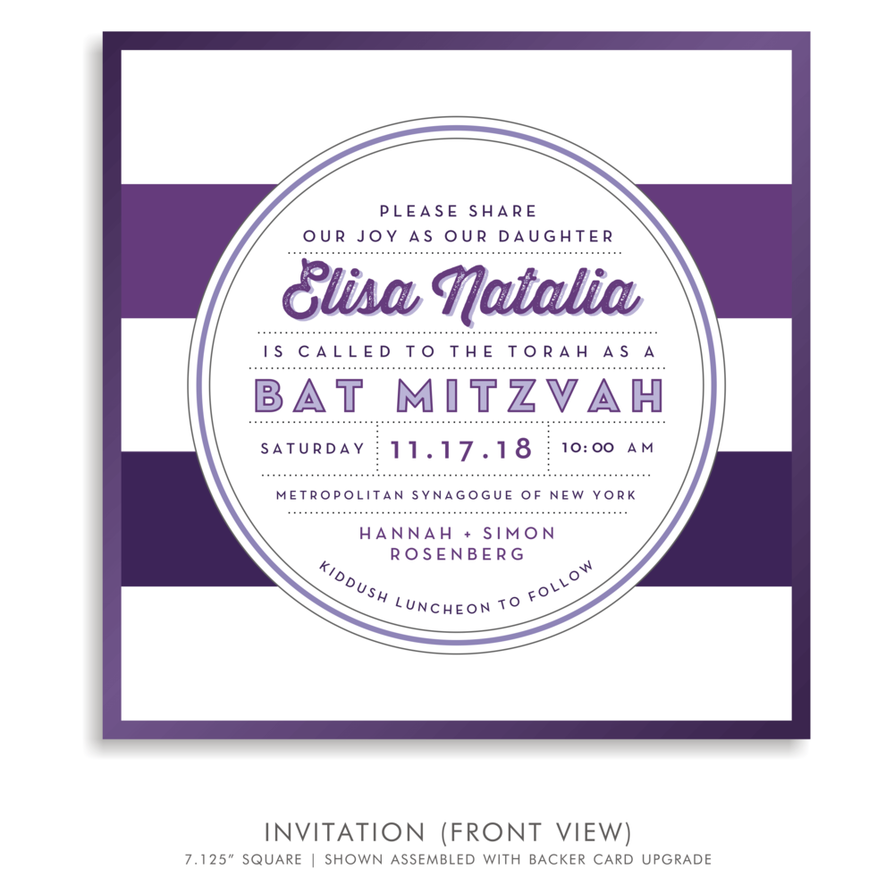 BAT MITZVAH INVITATION 5321-ELISA NATALIA