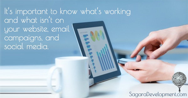 Website, email, and social media metrics - Sagara Development