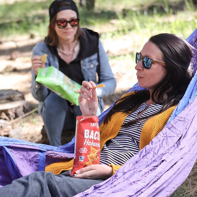 It is 5:30pm snack time... missing those @latejulyorganic snack hangouts in the hammock hangzone pretty bad right about now! #treklightgear #latejulyorganic #theuniquecamp