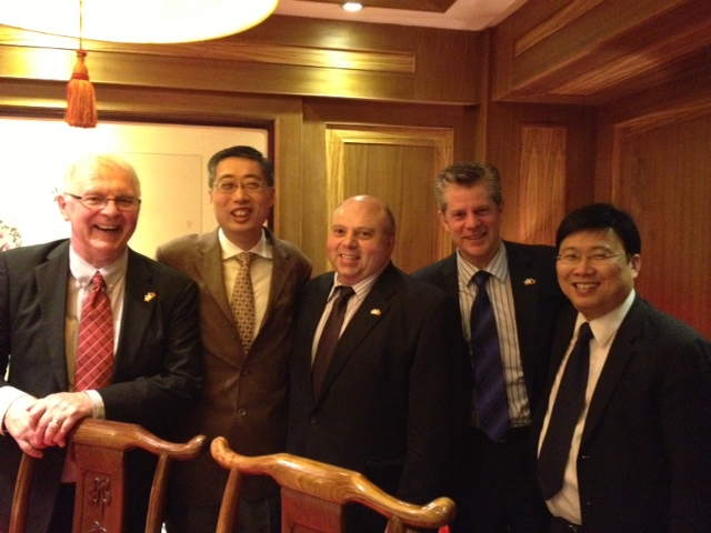 From L to R Mike Darch Pres. CCCA; Han Meiqing, Deputy Director-General Int'l Relations, CCPIT; Renato Discenza CEO Invest Toronto; Bruce Graham CEO Calgary Economic Development; Raymond Wu Director of Americas and Oceanian Affairs