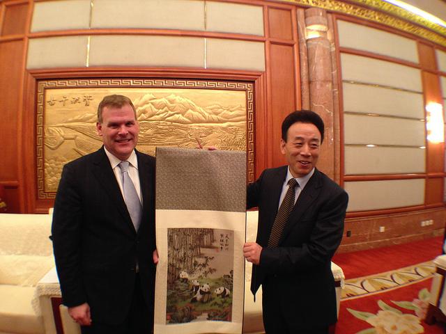 Minister John Baird in China, October 2013