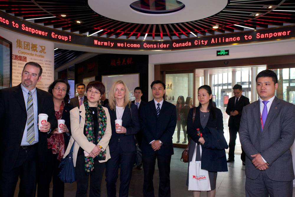 CCCA delegation visits Sanpower Group, Nanjing (Photo credit: DFATD - Invest in Canada)
