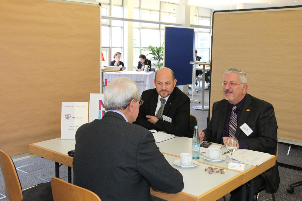 Canadian cities pitch investment opportunities to German companies during a business-to-business (B2B) matchmaking session in Stuttgart on November 6, 2014 (Photo Credit: Invest in Canada).