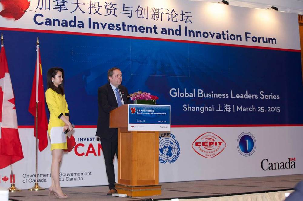 CARL VIEL, CHAIR OF CCCA AND PRESIDENT OF QUEBEC INTERNATIONAL, SPOKE IN SHANGHAI PHOTO CREDIT: DFATD - INVEST IN CANADA
