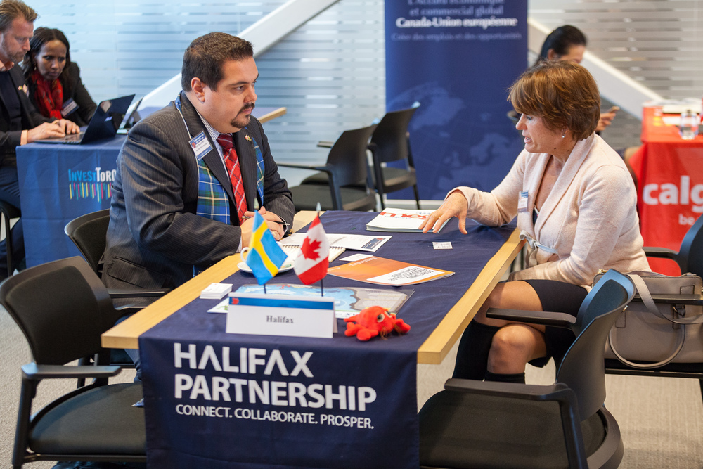 Business-to-Business Meetings with CCCA members. (Photo credit: Invest in Canada)