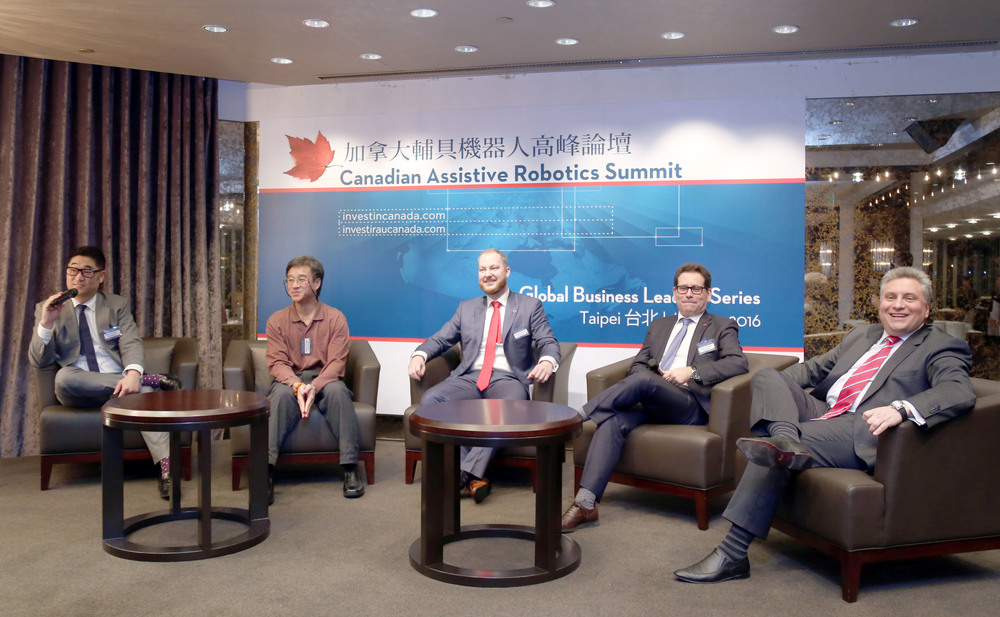 Panel discussion in Taipei (Photo credit: Invest in Canada)