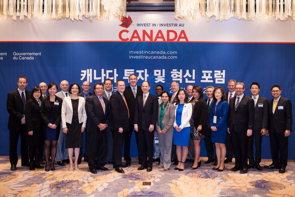 Consider Canada and Invest in Canada delegation in Seoul April 21, 2016 (Photo credit: Invest in Canada)
