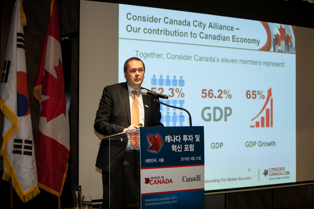 """Canada's Large Cities: Your Partners for Success in North America"" by Carl Viel, Chair, Consider Canada City Alliance (Photo credit: Invest in Canada)"