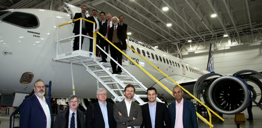 Foreign journalists at Bombardier plant in Montreal (Photo credit: Montreal International)