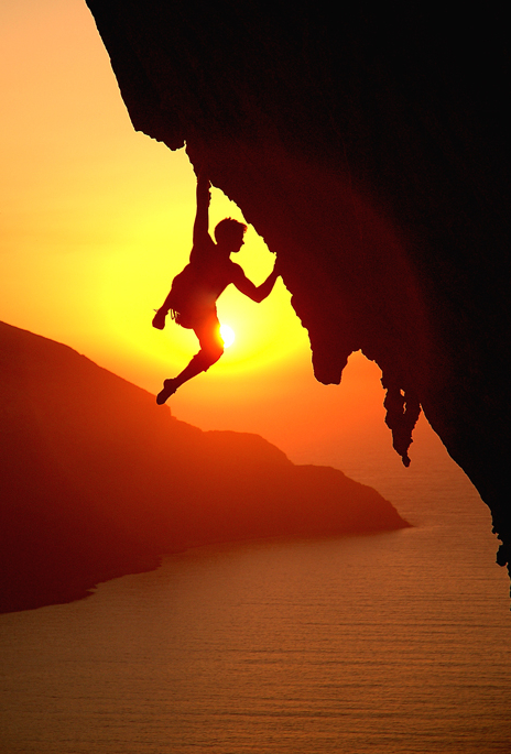 rock climb sunset.png
