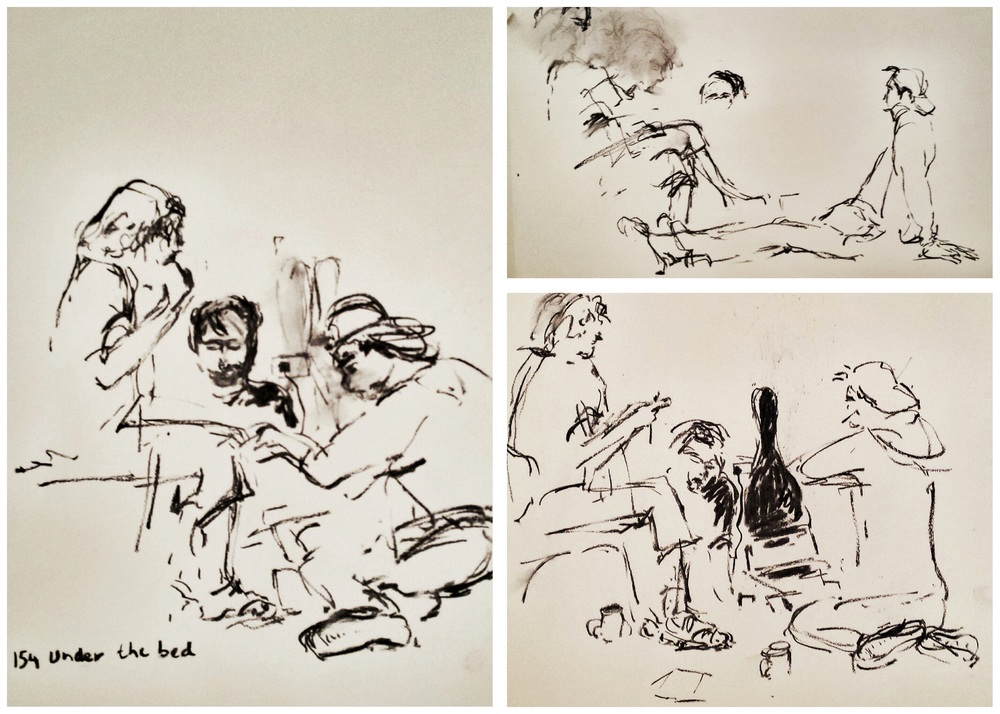Music conversations, sketched by Lou Sumray