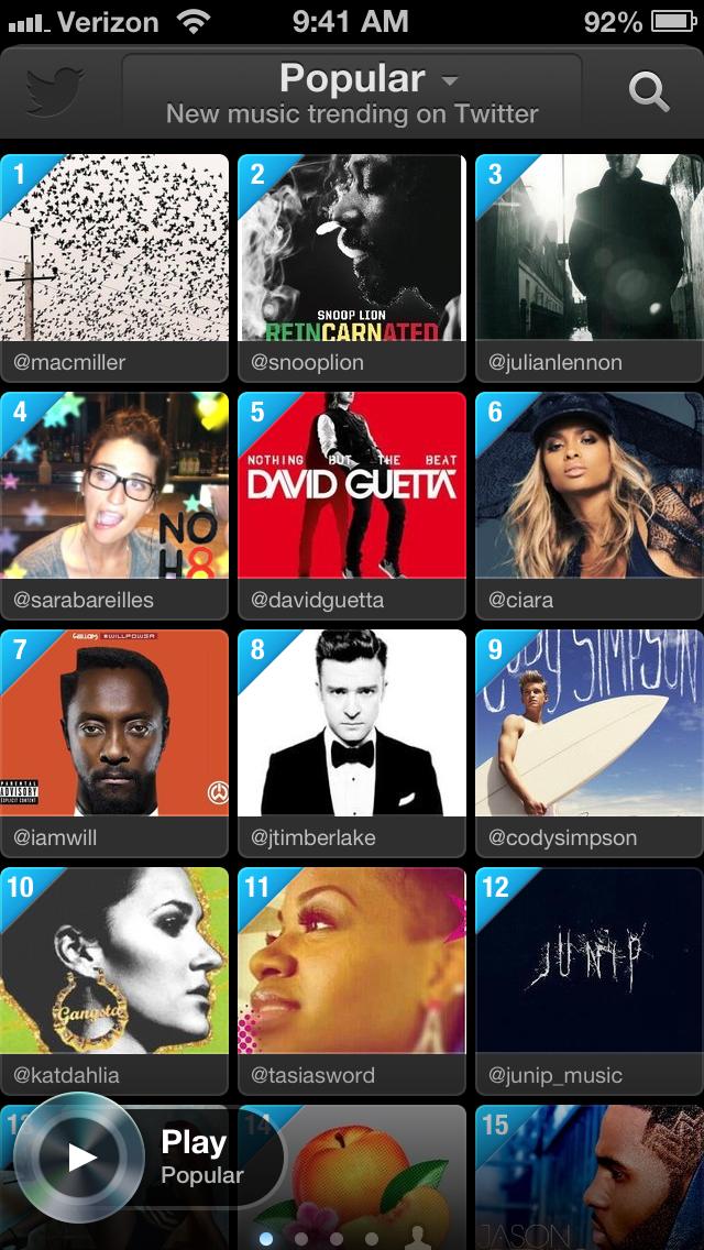 #music Popular Tab