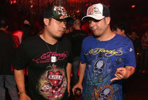 Trucker hats + Ed Hardy t-shirts happened