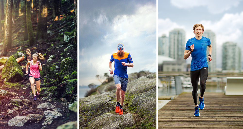 Gary Robbins Charles PhiliBert Thiboutot  Katy Mills - Cover - by Brice Ferre Studio - Vancouver portrait commercial editorial advertising trail running and athlete photographer