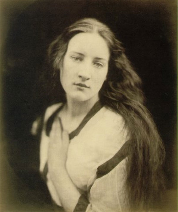 "Julia Margaret Cameron (1815-1879) received her first camera as a gift on her 48th birthday. Friends with many of the prominent artists, poets, and thinkers if the Victirian age, her work reflected a deeply spiritual and historical sensibility. She quickly created a new aesthetic for what photography would become. Many include her as one of the first photographers to use the camera for a creative and artistic purpose. This photo is titled ""The Echo""."