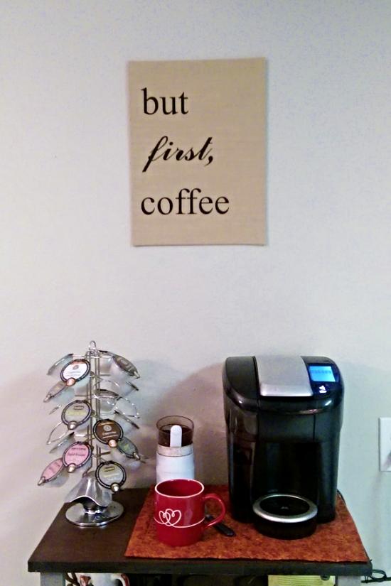 but first coffee burlap wall art wild mae