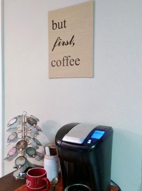 but first coffee canvas burlap art diy wild mae