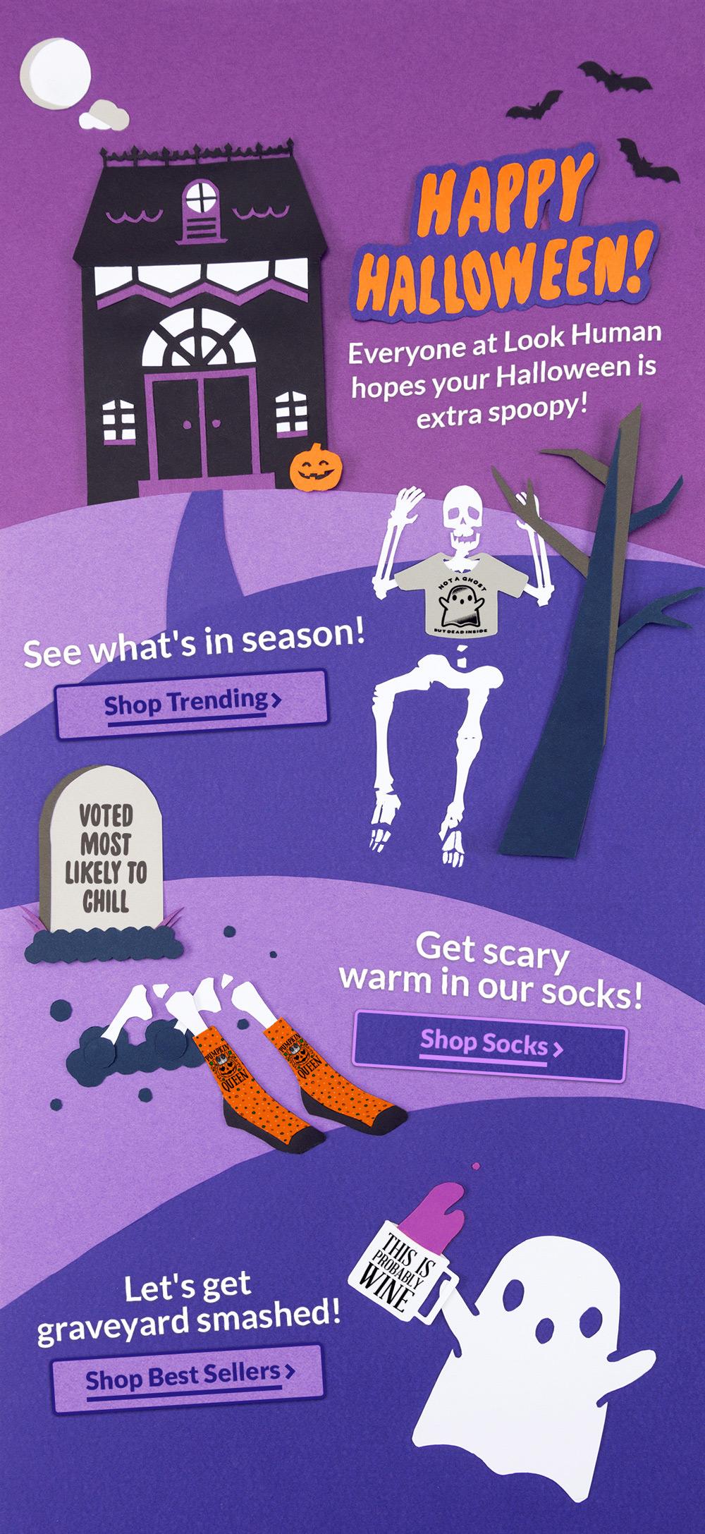 Halloween mailer for work