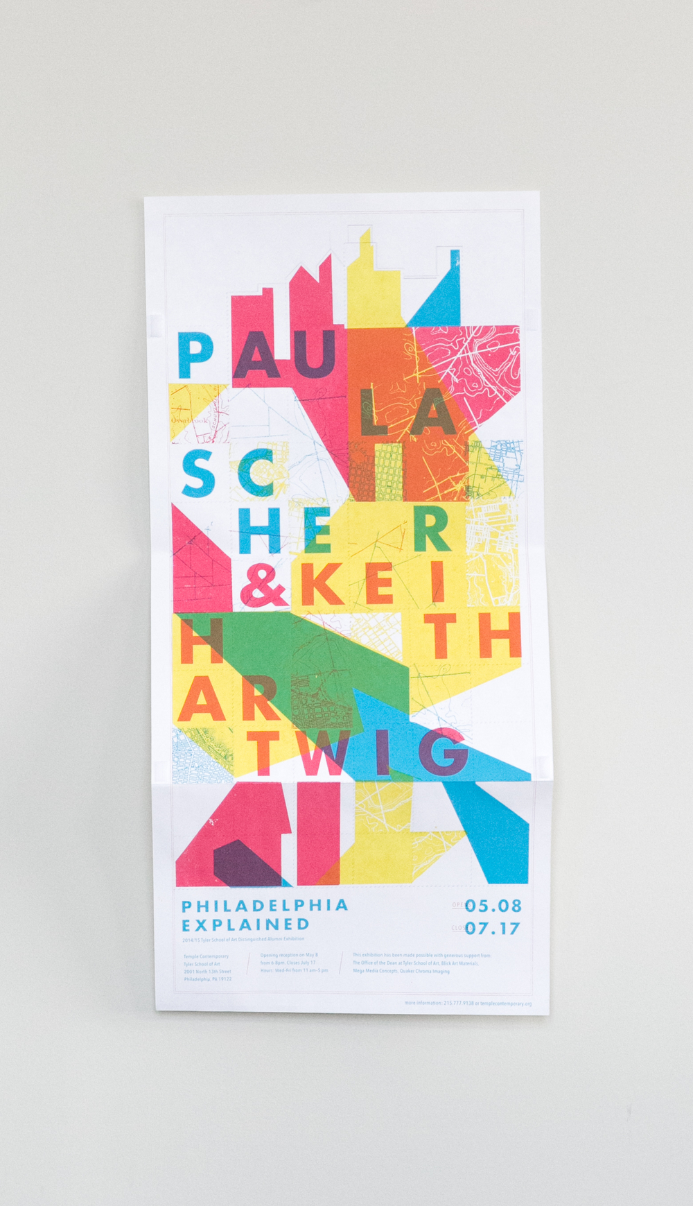 Poster design gallery - The Third Poster Promoted The Opening Of The Show The Entire Gallery Was Wallpapered With A Gigantic Map Of The City The View Was Both Overwhelming And