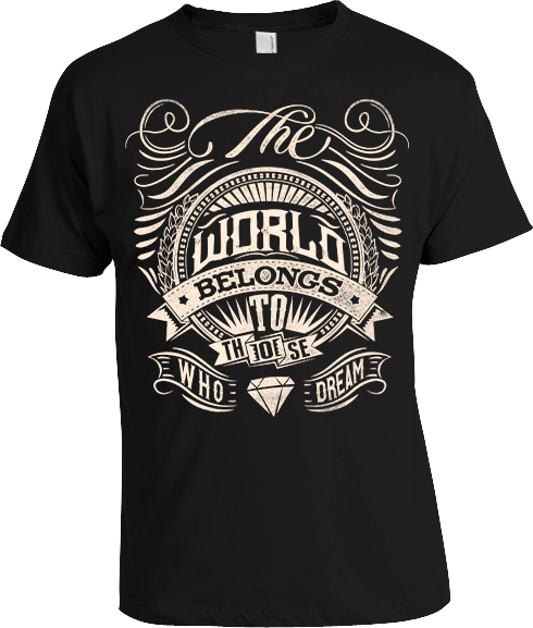 Arek-Art---T-Design---The-World-Belongs-To-Those-Who-Dream---BLACK-SHORT-SLEEVE---transparenbt.png