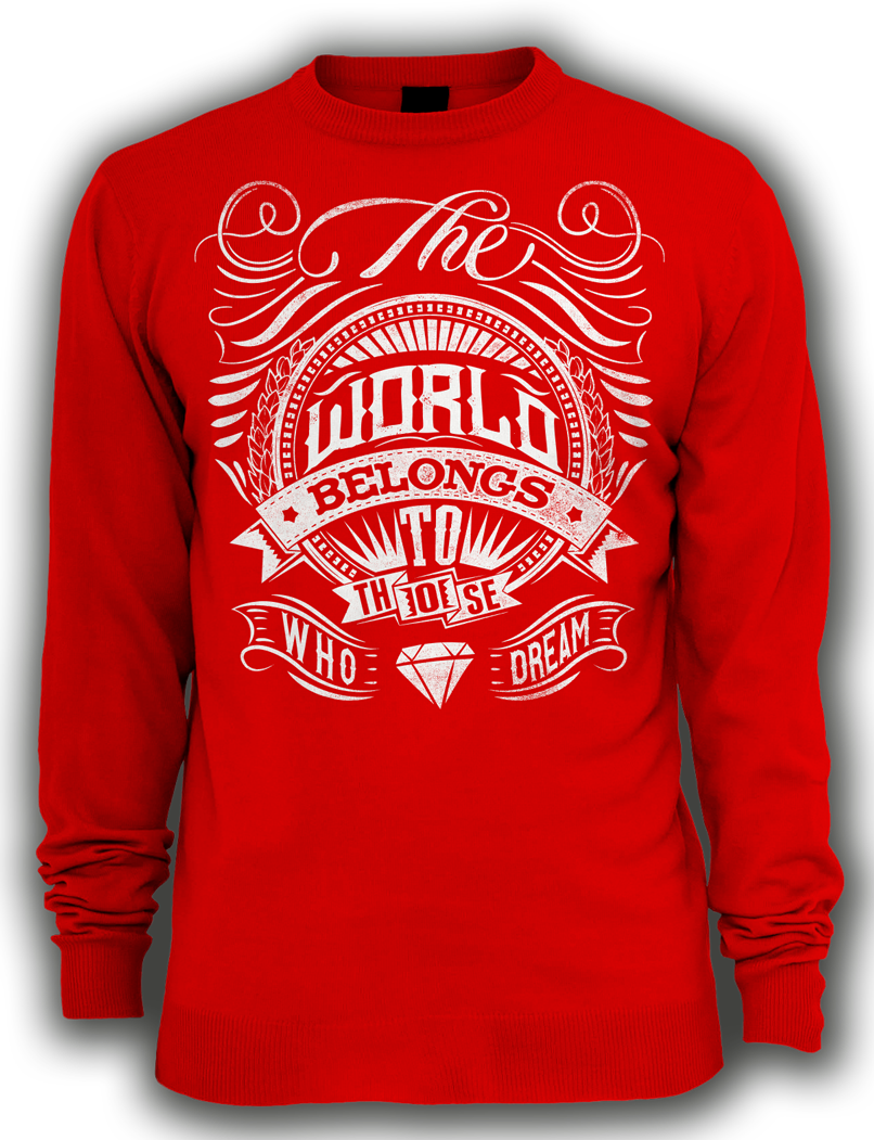 Arek-Art---T-Design---The-World-Belongs-To-Those-Who-Dream---RED-LONG-SLEEVE.png
